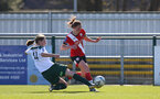 SOUTHAMPTON, ENGLAND - APRIL 04: Rachel Panting (R) of Southampton during the Vitality Women's FA Cup second round match between Southampton Women and Plymouth Argyle Women at The Snows Stadium on April 04, 2021 in Southampton, England. (Photo by Isabelle Field/Southampton FC via Getty Images)