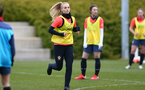 SOUTHAMPTON, ENGLAND - OCTOBER 21: Rosie Parnell during Southampton Women's training session at Staplewood Complex on October 21, 2020 in Southampton, England. (Photo by Isabelle Field/Southampton FC via Getty Images)
