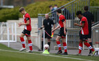 SOUTHAMPTON, ENGLAND - APRIL 10: Southampton players walk out ahead of the Premier League U18s match between Southampton U18 and Tottenham Hotspur at Staplewood Campus on April 10, 2021 in Southampton, England. (Photo by Isabelle Field/Southampton FC via Getty Images)