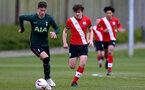 SOUTHAMPTON, ENGLAND - APRIL 10: Luke Pearce(R) of Southampton during the Premier League U18s match between Southampton U18 and Tottenham Hotspur at Staplewood Campus on April 10, 2021 in Southampton, England. (Photo by Isabelle Field/Southampton FC via Getty Images)