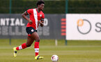 SOUTHAMPTON, ENGLAND - APRIL 10: Leon Pambou of Southampton during the Premier League U18s match between Southampton U18 and Tottenham Hotspur at Staplewood Campus on April 10, 2021 in Southampton, England. (Photo by Isabelle Field/Southampton FC via Getty Images)