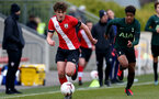 SOUTHAMPTON, ENGLAND - APRIL 10: Luke Pearce of Southampton during the Premier League U18s match between Southampton U18 and Tottenham Hotspur at Staplewood Campus on April 10, 2021 in Southampton, England. (Photo by Isabelle Field/Southampton FC via Getty Images)