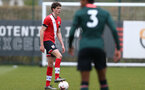 SOUTHAMPTON, ENGLAND - APRIL 10: Will Tizzard of Southampton during the Premier League U18s match between Southampton U18 and Tottenham Hotspur at Staplewood Campus on April 10, 2021 in Southampton, England. (Photo by Isabelle Field/Southampton FC via Getty Images)