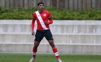 SOUTHAMPTON, ENGLAND - APRIL 10: Jeremi Rodriguez of Southampton during the Premier League U18s match between Southampton U18 and Tottenham Hotspur at Staplewood Campus on April 10, 2021 in Southampton, England. (Photo by Isabelle Field/Southampton FC via Getty Images)