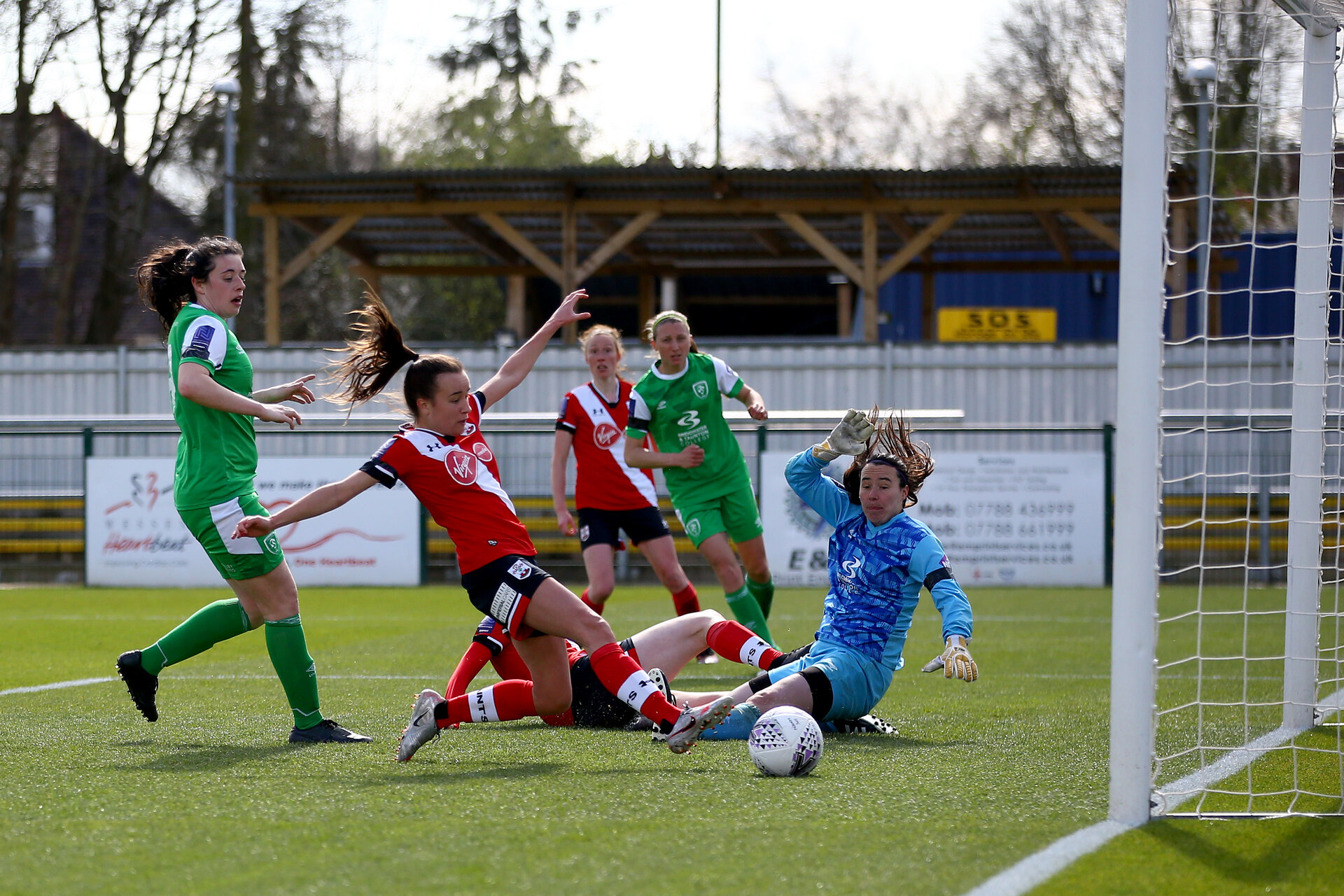 SOUTHAMPTON, ENGLAND - APRIL 11:  during the Vitality Women's FA Cup third round match between Southampton Women and Yeovil United Women at The Snows Stadium on April 11, 2021 in Southampton, England. (Photo by Isabelle Field/Southampton FC via Getty Images)