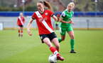 SOUTHAMPTON, ENGLAND - APRIL 11: Rachel Panting of Southampton during the Vitality Women's FA Cup third round match between Southampton Women and Yeovil United Women at The Snows Stadium on April 11, 2021 in Southampton, England. (Photo by Isabelle Field/Southampton FC via Getty Images)