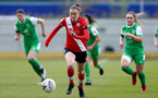 SOUTHAMPTON, ENGLAND - APRIL 11: Ella Pusey of Southampton during the Vitality Women's FA Cup third round match between Southampton Women and Yeovil United Women at The Snows Stadium on April 11, 2021 in Southampton, England. (Photo by Isabelle Field/Southampton FC via Getty Images)