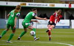 SOUTHAMPTON, ENGLAND - APRIL 11: Ella Pusey (R) of Southampton during the Vitality Women's FA Cup third round match between Southampton Women and Yeovil United Women at The Snows Stadium on April 11, 2021 in Southampton, England. (Photo by Isabelle Field/Southampton FC via Getty Images)