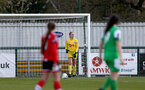 SOUTHAMPTON, ENGLAND - APRIL 11: Kayla Rendall of Southampton during the Vitality Women's FA Cup third round match between Southampton Women and Yeovil United Women at The Snows Stadium on April 11, 2021 in Southampton, England. (Photo by Isabelle Field/Southampton FC via Getty Images)