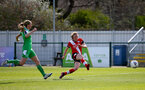 SOUTHAMPTON, ENGLAND - APRIL 11: Rachel Panting (R) of Southampton scores the third goal for Saints during the Vitality Women's FA Cup third round match between Southampton Women and Yeovil United Women at The Snows Stadium on April 11, 2021 in Southampton, England. (Photo by Isabelle Field/Southampton FC via Getty Images)
