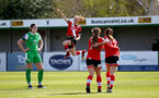 SOUTHAMPTON, ENGLAND - APRIL 11: Rachel Panting of Southampton goal celebration during the Vitality Women's FA Cup third round match between Southampton Women and Yeovil United Women at The Snows Stadium on April 11, 2021 in Southampton, England. (Photo by Isabelle Field/Southampton FC via Getty Images)