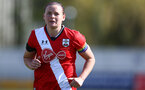 SOUTHAMPTON, ENGLAND - APRIL 11: Shannon Siewright of Southampton during the Vitality Women's FA Cup third round match between Southampton Women and Yeovil United Women at The Snows Stadium on April 11, 2021 in Southampton, England. (Photo by Isabelle Field/Southampton FC via Getty Images)