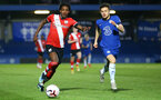 KINGSTON UPON THAMES, LONDON, ENGLAND - APRIL 12: Ramello Mitchell (L) of Southampton during the Premier League 2 match between U23 Chelsea FC and Southampton B Team at the Kingsmeadow Stadium on April 12, 2021 in Kingston upon Thames, London, England.  (Photo by Isabelle Field/Southampton FC via Getty Images)