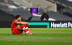 LONDON, ENGLAND - APRIL 21: Che Adams of Southampton dejected during the Premier League match between Tottenham Hotspur and Southampton at Tottenham Hotspur Stadium on April 21, 2021 in London, England. Sporting stadiums around the UK remain under strict restrictions due to the Coronavirus Pandemic as Government social distancing laws prohibit fans inside venues resulting in games being played behind closed doors. (Photo by Matt Watson/Southampton FC via Getty Images)
