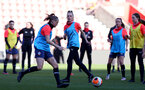 SOUTHAMPTON, ENGLAND - April 22: Phoebe Williams during Southampton Women's training session at St Mary's Stadium on April 22, 2021 in Southampton, England.  (Photo by Isabelle Field/Southampton FC via Getty Images)