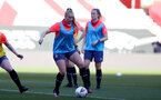 SOUTHAMPTON, ENGLAND - April 22: Cattlin Morris during Southampton Women's training session at St Mary's Stadium on April 22, 2021 in Southampton, England.  (Photo by Isabelle Field/Southampton FC via Getty Images)