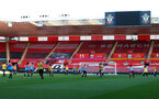 SOUTHAMPTON, ENGLAND - April 22: Southampton players during Southampton Women's training session at St Mary's Stadium on April 22, 2021 in Southampton, England.  (Photo by Isabelle Field/Southampton FC via Getty Images)