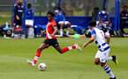 READING, ENGLAND - APRIL 27: Ramello Mitchell (L) of Southampton during the Premier League U18s match between Reading and Southampton U18s at Bearwood Park Training Ground on April 27, 2021 in Reading, England. (Photo by Isabelle Field/Southampton FC via Getty Images)