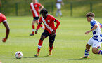 READING, ENGLAND - APRIL 27: Zuriel Otseh-Taiwo of Southampton during the Premier League U18s match between Reading and Southampton U18s at Bearwood Park Training Ground on April 27, 2021 in Reading, England. (Photo by Isabelle Field/Southampton FC via Getty Images)