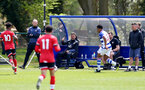 READING, ENGLAND - APRIL 27: David Horseman Southampton B Team head coach supporting the U18s  during the Premier League U18s match between Reading and Southampton U18s at Bearwood Park Training Ground on April 27, 2021 in Reading, England. (Photo by Isabelle Field/Southampton FC via Getty Images)