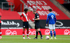 SOUTHAMPTON, ENGLAND - MAY 02: Oludare Olufunwa (L) of Southampton during the Premier League 2 match between Southampton B Team and Everton at the St Mayr's Stadium on May 02, 2021 in Southampton, England.  (Photo by Isabelle Field/Southampton FC via Getty Images)