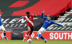 SOUTHAMPTON, ENGLAND - MAY 02: Nathan Tella (L) of Southampton during the Premier League 2 match between Southampton B Team and Everton at the St Mayr's Stadium on May 02, 2021 in Southampton, England.  (Photo by Isabelle Field/Southampton FC via Getty Images)