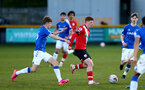 SOUTHPORT, ENGLAND - MAY 07: Kameron Ledwidge of Southampton during the Premier League 2 match between Everton and Southampton B Team at the The Pure Stadium on May 07, 2021 in Southport, England.  (Photo by Isabelle Field/Southampton FC via Getty Images)