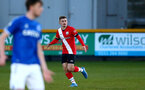 SOUTHPORT, ENGLAND - MAY 07: Seamas Keogh of Southampton during the Premier League 2 match between Everton and Southampton B Team at the The Pure Stadium on May 07, 2021 in Southport, England.  (Photo by Isabelle Field/Southampton FC via Getty Images)