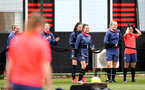SOUTHAMPTON, ENGLAND - MAY 12: Sophia Pharoah(center) during Southampton Women's training session at Staplewood Training Ground on May 12, 2021 in Southampton, England.  (Photo by Isabelle Field/Southampton FC via Getty Images)