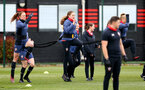 SOUTHAMPTON, ENGLAND - MAY 12: Rachel Panting(L) and Lucia Kendall(R) during Southampton Women's training session at Staplewood Training Ground on May 12, 2021 in Southampton, England.  (Photo by Isabelle Field/Southampton FC via Getty Images)