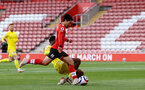 SOUTHAMPTON, ENGLAND - MAY 15: Takumi Minamino of Southampton during the Premier League match between Southampton and Fulham at St Mary's Stadium on May 15, 2021 in Southampton, England. Sporting stadiums around the UK remain under strict restrictions due to the Coronavirus Pandemic as Government social distancing laws prohibit fans inside venues resulting in games being played behind closed doors.  (Photo by Matt Watson/Southampton FC via Getty Images)