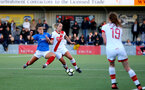 HAVANT, ENGLAND - MAY 19: Shelly Provan (R) of Southampton during the Hampshire FA Women's Senior Cup Final against Portsmouth Women and Southampton Women at Westleigh Park on May 19, 2021 in Havant, England. (Photo by Isabelle Field/Southampton FC via Getty Images)