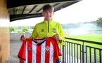 SOUTHAMPTON, ENGLAND - July 01: Dominic Ballard photographed signing a scholarship with Southampton FC at Staplewood training ground on July 01, 2021 in Southampton, England. (Photo by Isabelle Field/Southampton FC via Getty Images)