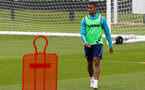 SOUTHAMPTON, ENGLAND - July 05: Yan Valery during Southampton B Team per season training session at Staplewood training ground on July 05, 2021 in Southampton, England. (Photo by Isabelle Field/Southampton FC via Getty Images)