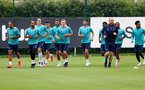 SOUTHAMPTON, ENGLAND - JULY 07: Players warm up during a Southampton FC pre-season training session at The Staplewood Campus on July 07, 2021 in Southampton, England. (Photo by Matt Watson/Southampton FC via Getty Images)