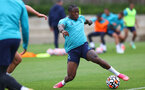 SOUTHAMPTON, ENGLAND - JULY 07: Michael Obafemi during a Southampton FC pre-season training session at The Staplewood Campus on July 07, 2021 in Southampton, England. (Photo by Matt Watson/Southampton FC via Getty Images)