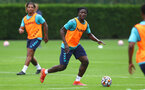 SOUTHAMPTON, ENGLAND - JULY 08: Mohammed Salisu during a Southampton FC pre season training session at the Staplewood Campus on July 08, 2021 in Southampton, England. (Photo by Matt Watson/Southampton FC via Getty Images)