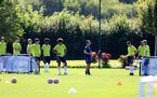 SOUTHAMPTON, ENGLAND - July 14: U18s players during Southampton U18s per season training session at Staplewood training ground on July 14, 2021 in Southampton, England. (Photo by Isabelle Field/Southampton FC via Getty Images)