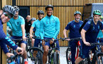 SOUTHAMPTON, ENGLAND - JULY 15: Yan Valery during team building cycle ride around Deerleap, New Forest on July 15, 2021 in Southampton, England. (Photo by Isabelle Field/Southampton FC via Getty Images)