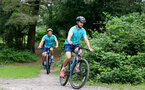 SOUTHAMPTON, ENGLAND - JULY 15: Shane Long during team building cycle ride around Deerleap, New Forest on July 15, 2021 in Southampton, England. (Photo by Isabelle Field/Southampton FC via Getty Images)