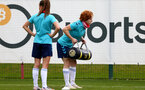SOUTHAMPTON, ENGLAND - JULY 15: Molly Mott during Southampton Women's per-season training session at Staplewood Complex on July 15, 2021 in Southampton, England. (Photo by Isabelle Field/Southampton FC via Getty Images)