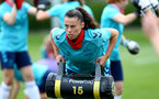 SOUTHAMPTON, ENGLAND - JULY 15: Laura Rafferty during Southampton Women's per-season training session at Staplewood Complex on July 15, 2021 in Southampton, England. (Photo by Isabelle Field/Southampton FC via Getty Images)