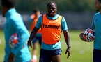 SOUTHAMPTON, ENGLAND - JULY 16: Michael Obafemi during pre-season training session at Staplewood Complex on July 16, 2021 in Southampton, England. (Photo by Isabelle Field/Southampton FC via Getty Images)