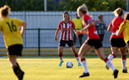 SOUTHAMPTON, ENGLAND - July 20: Laura Rafferty of Southampton during per-season friendly between Saints Women and Southampton Women Development team at The Snows Stadium on July 20, 2021 in Southampton, England. (Photo by Isabelle Field/Southampton FC via Getty Images)