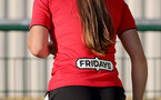 SOUTHAMPTON, ENGLAND - July 20: Fridays branding on the back of shirt during per-season friendly between Saints Women and Southampton Women Development team at The Snows Stadium on July 20, 2021 in Southampton, England. (Photo by Isabelle Field/Southampton FC via Getty Images)