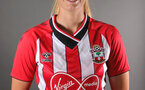 SOUTHAMPTON, ENGLAND - July 20: Catilin Morris during Southampton Women's headshot shoot for 2021-22 season at The Snows Stadium on July 20, 2021 in Southampton, England. (Photo by Isabelle Field/Southampton FC via Getty Images)