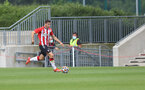 SOUTHAMPTON, ENGLAND - JULY 24: Romain Perraud of Southampton during a pre-season friendly match between Southampton FC and Fulham at The Staplewood Campus on July 24, 2021 in Southampton, England. Photo by Matt Watson/Southampton FC via Getty Images