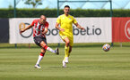 SOUTHAMPTON, ENGLAND - JULY 24: Oriol Romeu(L) of during a pre-season friendly match between Southampton FC and Fulham at The Staplewood Campus on July 24, 2021 in Southampton, England. Photo by Matt Watson/Southampton FC via Getty Images