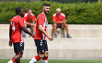 SOUTHAMPTON, ENGLAND - JULY 24: Shane Long(R) after opening the scoring during a pre-season friendly match between Southampton FC and Fulham at The Staplewood Campus on July 24, 2021 in Southampton, England. Photo by Matt Watson/Southampton FC via Getty Images