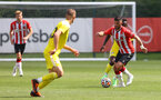 SOUTHAMPTON, ENGLAND - JULY 24: Shane Long of Southampton during a pre-season friendly match between Southampton FC and Fulham at The Staplewood Campus on July 24, 2021 in Southampton, England. Photo by Matt Watson/Southampton FC via Getty Images